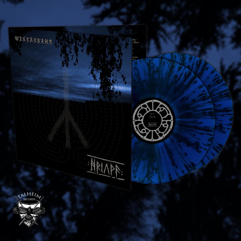 Wintarnaht - Hriuwa DLP Gatefold (Blau mit schwarzen Spritzer)