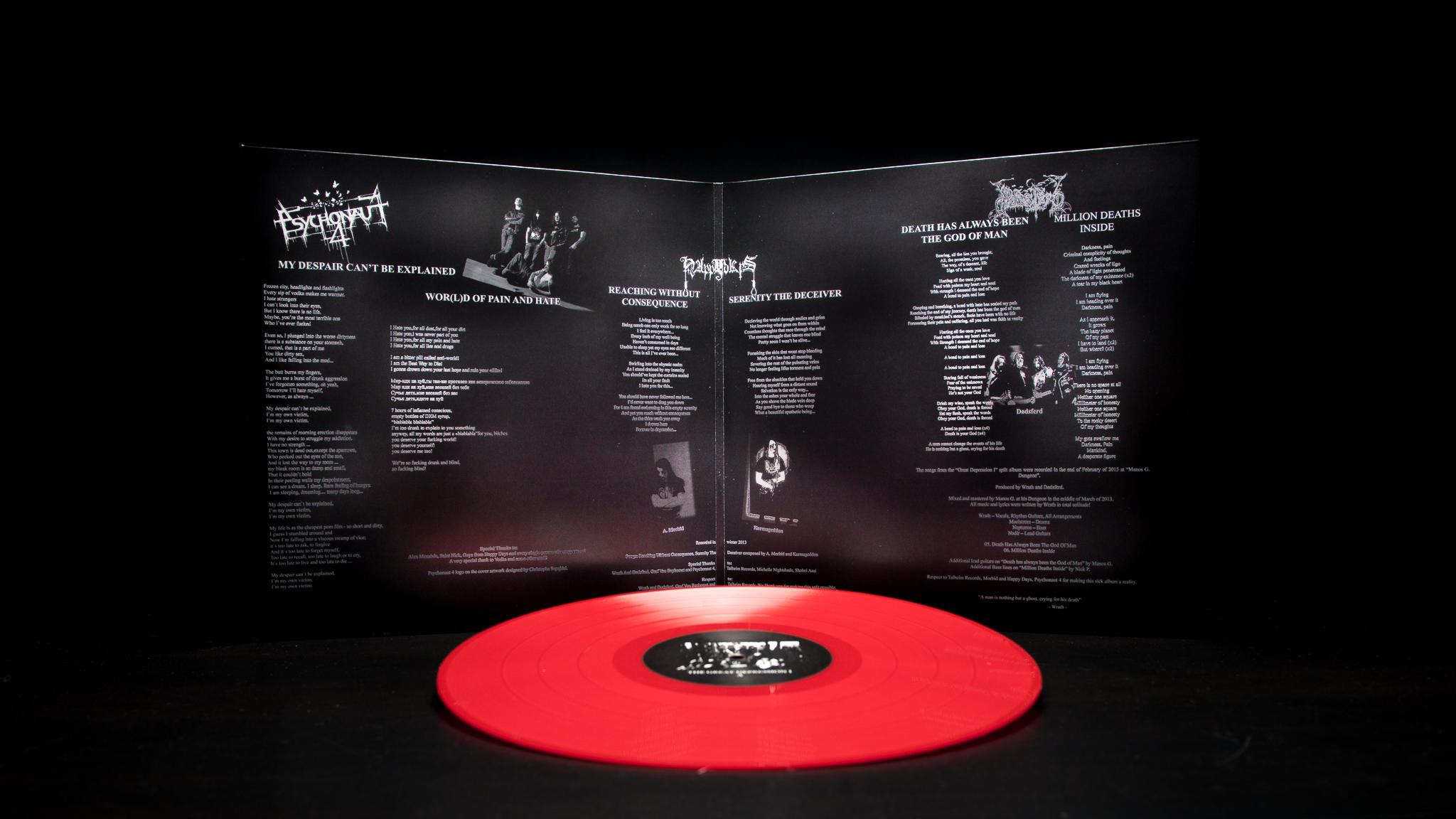 Dødsferd / Happy Days / Psychonaut 4 - The Great Depression I LP Gatefold Red
