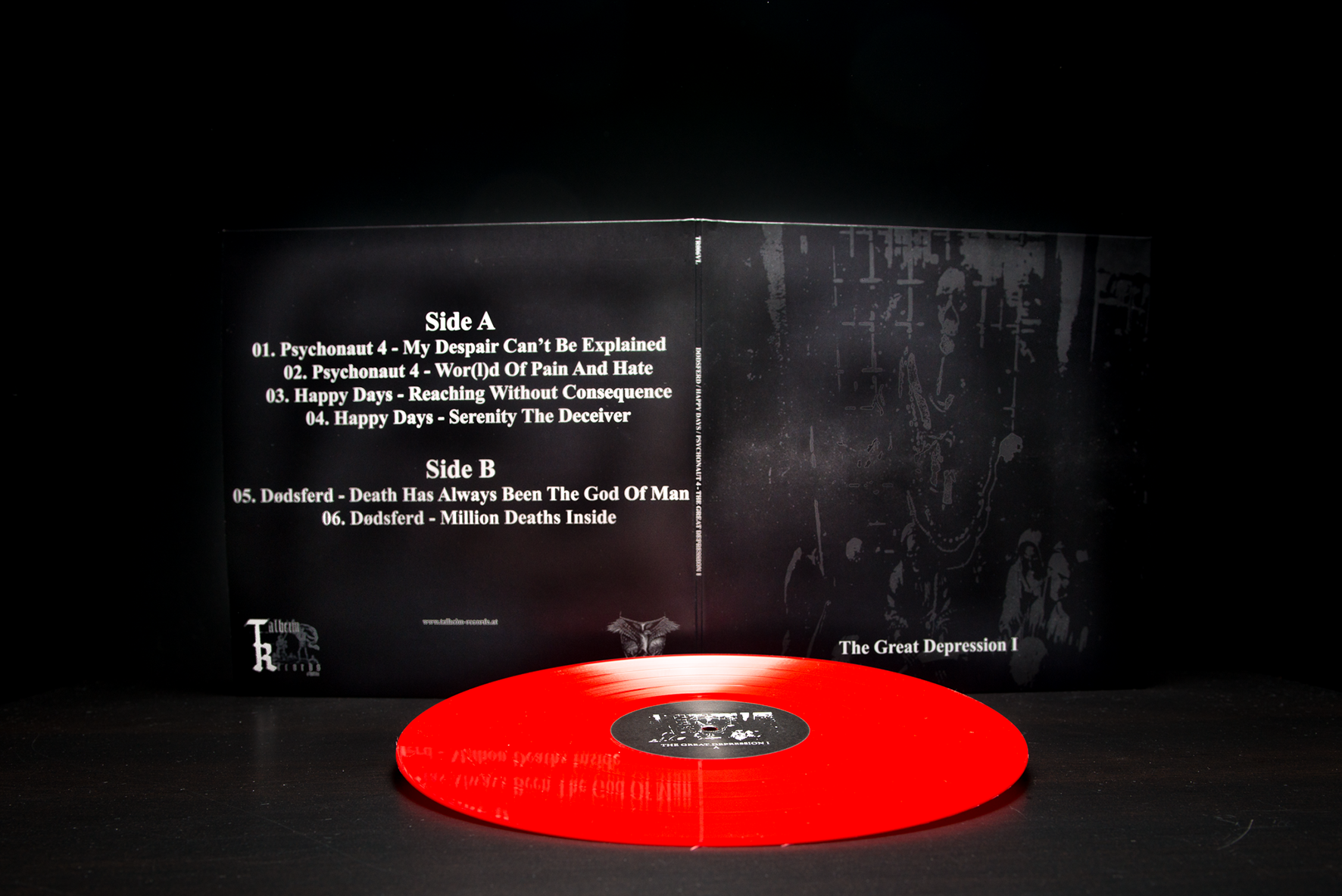 Dødsferd / Happy Days / Psychonaut 4 - The Great Depression I LP Gatefold Red